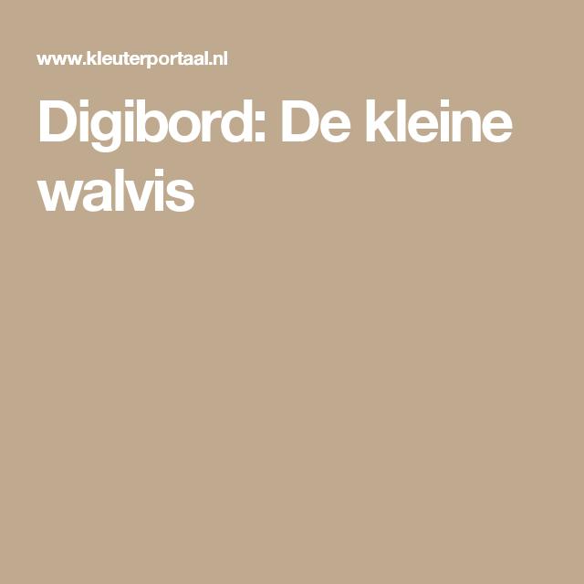 Digibord: De kleine walvis