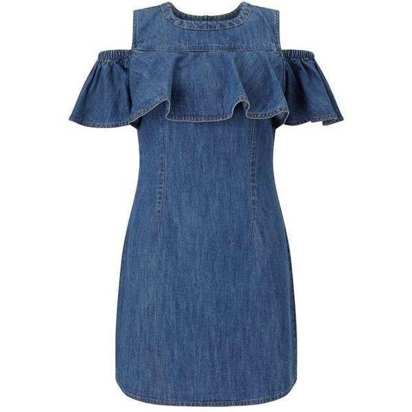 24++ Cold shoulder denim dress info