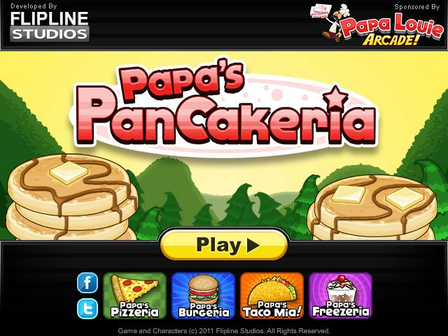 Play Papa S Pancakeria At Cool Math Kid Games Papa S