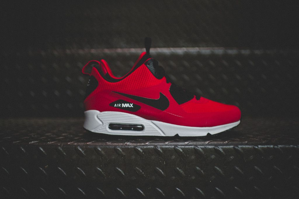 quality design a46fa 719f5 Nike Air Max 90 - mid-winter Gym Red Black