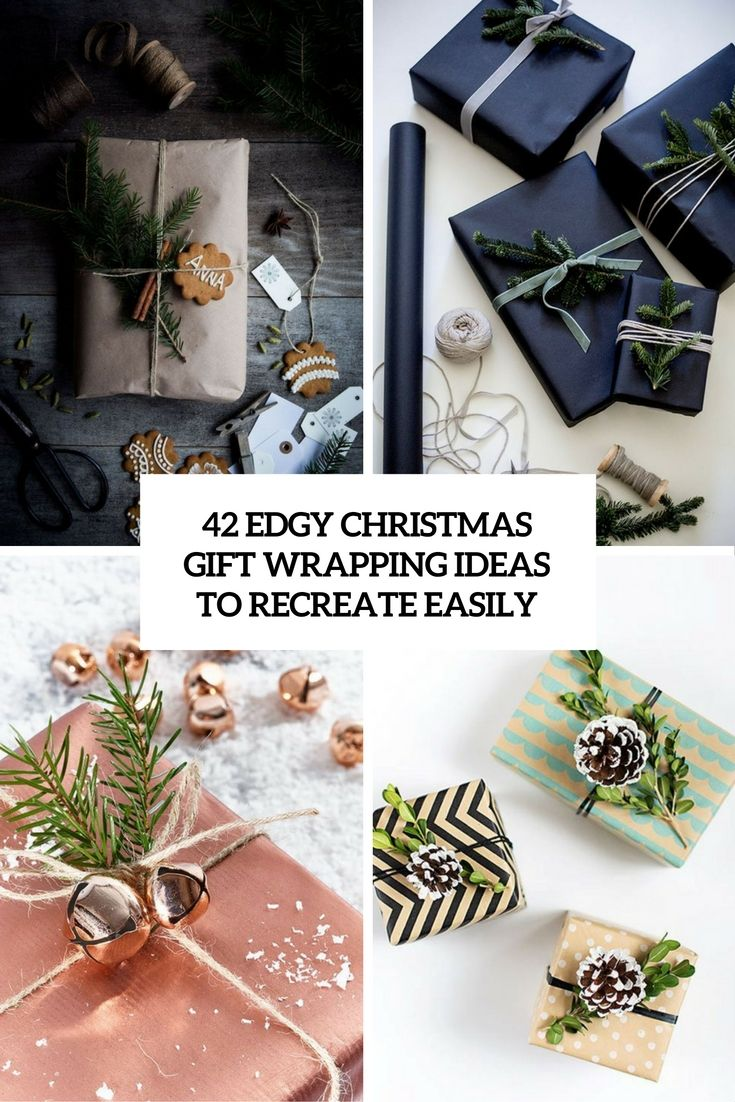 42 Edgy Christmas Gift Wrapping Ideas To Recreate Easily | Gifting ...