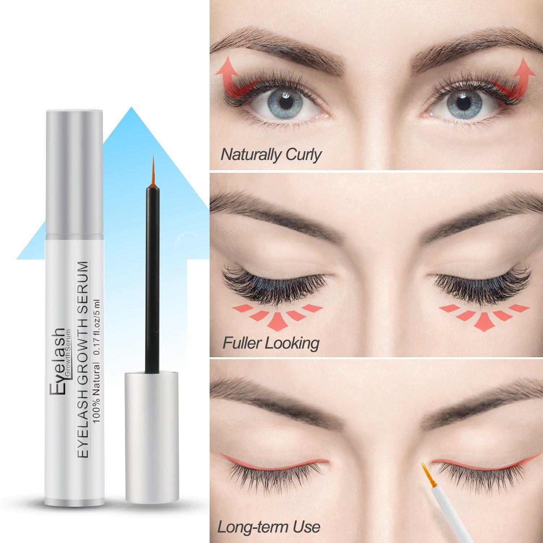 6971cf3e885 Eyelash Growth Serum Herwiss Natural Lash and Brow Enhancer Serum Eye Lash  Booster Enhancing Formula for Longer Thicker Eyelashes and Fuller Eyebrows  FDA ...