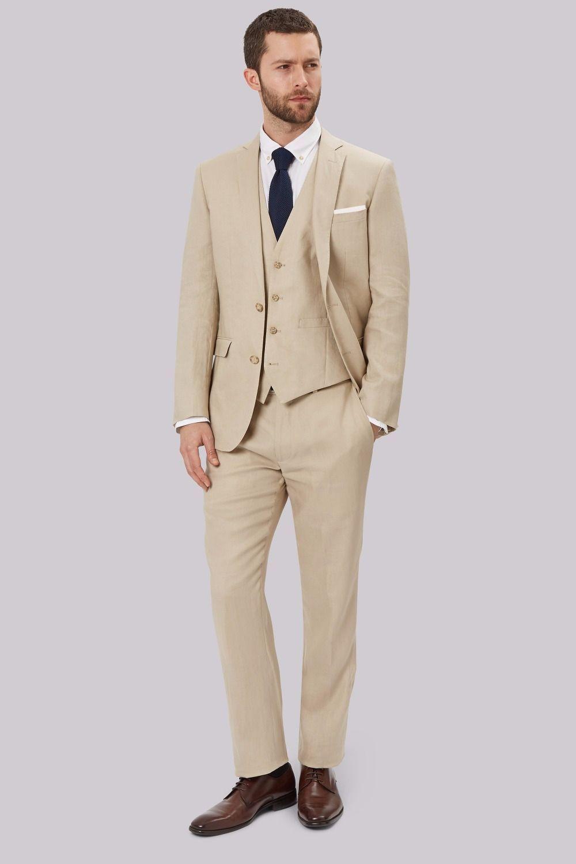 Latest coat pant designs beige khaki linen men suit wedding suits