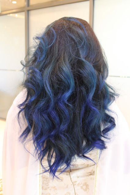 Blue Ombre On Dark Hair Using Manic Panic Rockabilly Blue Dark