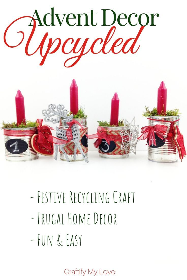 Photo of Upcycled Advent Wreath from Recycled Tin Cans