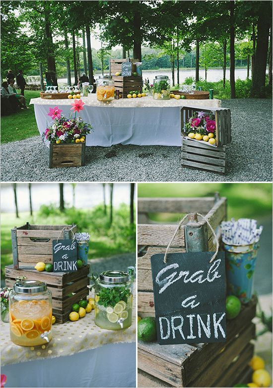 Intimate Outdoor Family Style Wedding