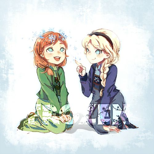 elsa and anna-frozen:  ❉✲❉✲❉ by 隊長/yue