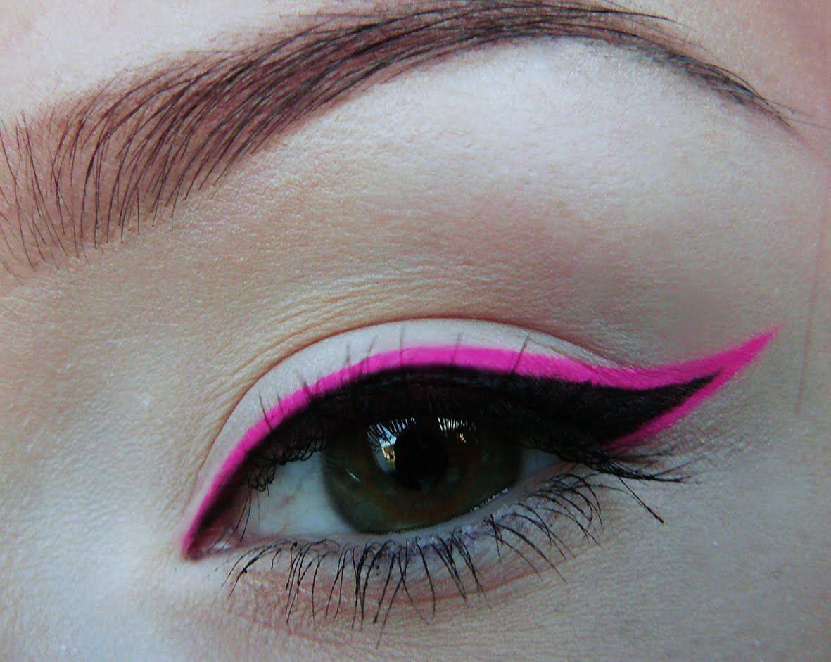 0d7d18124a3 Neon Pink Waterproof Gel Eyeliner -HotPink MaX Factor 2000 Calories Mascara  Curved brush -Black -Maybelline-EyeStudio lasting Drama Gel liner ,Black  -NYX ...