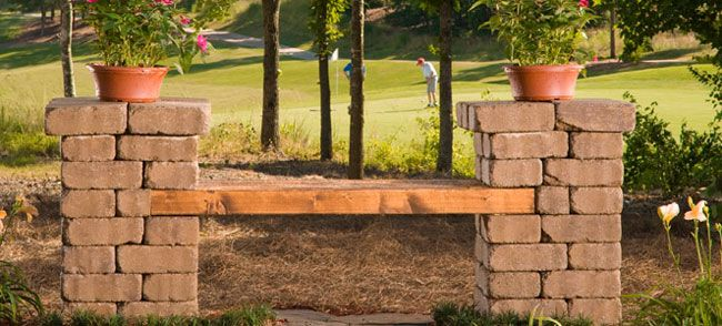 Build Your Own Patio Block Bench Learn How To Build A Bench From Patio  Blocks To