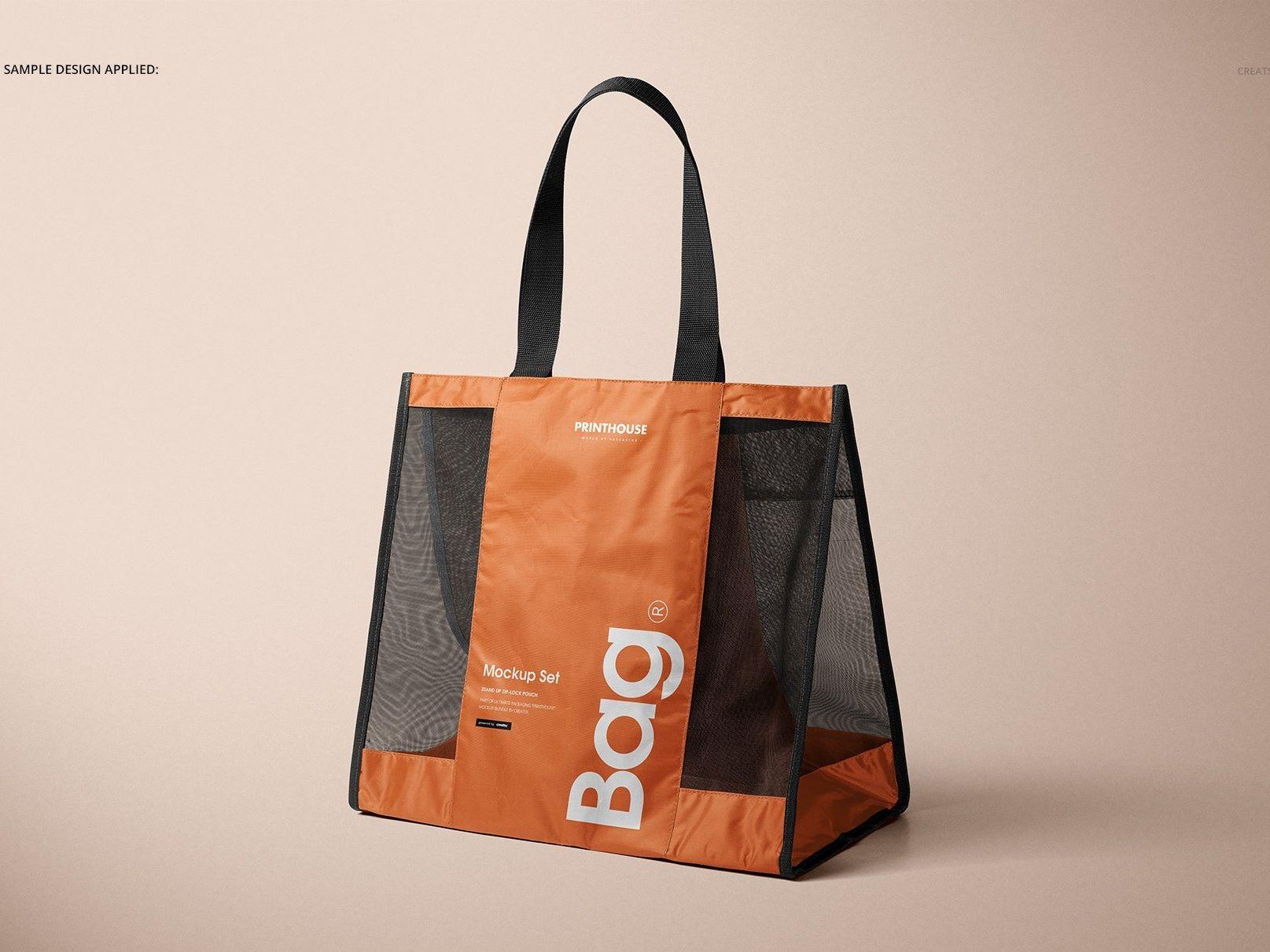 Download Mesh Shopping Tote Bag Mockup Set Shopping Tote Bag Shopping Tote Tote Bag