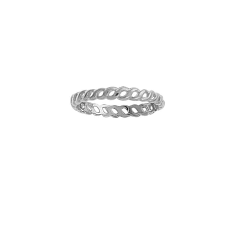 Something Silver | Boma Sterling Silver Twisted Stacking Ring