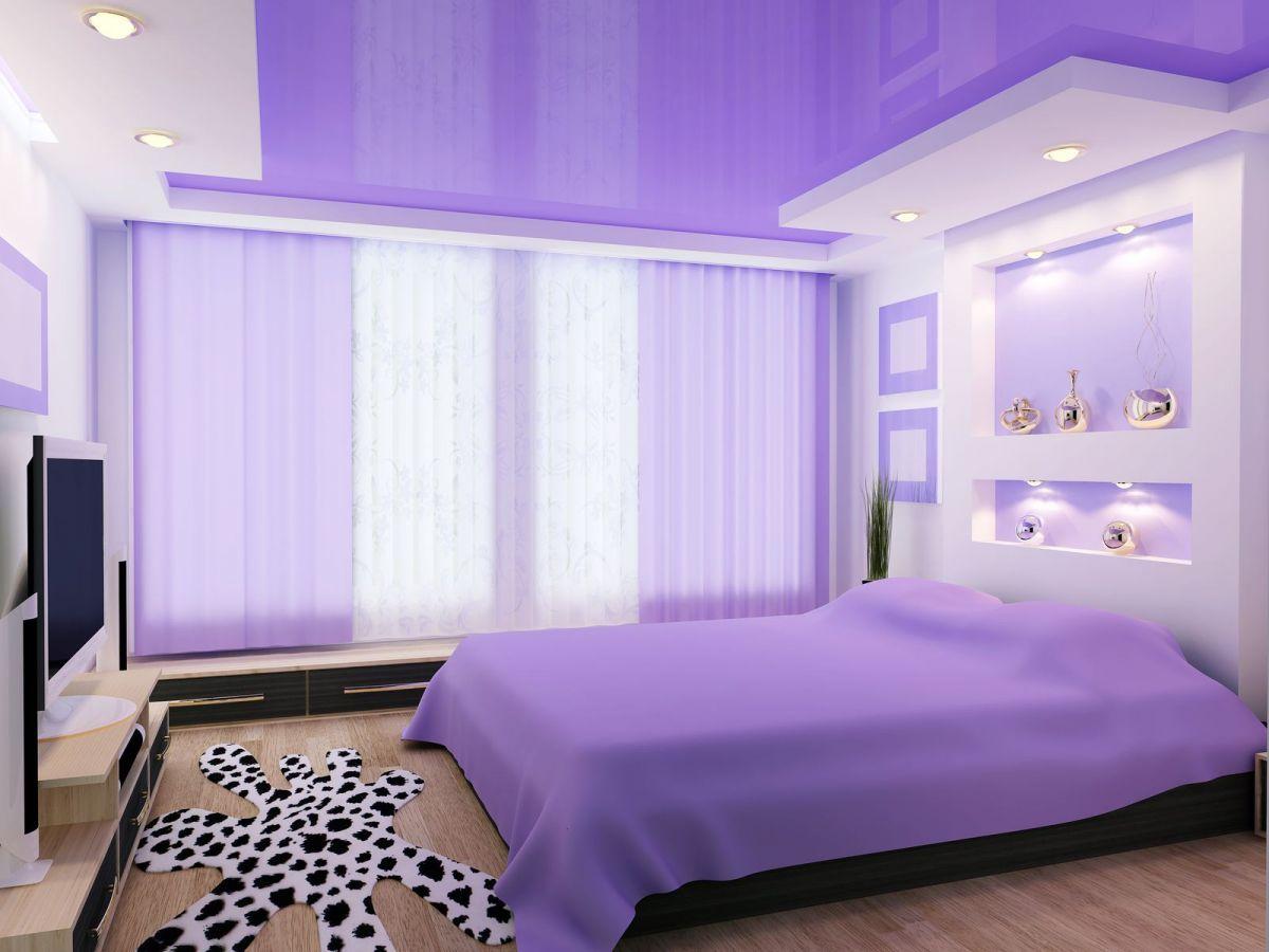 Explosion Of Purple And Geometric Lines Purple Bedroom Decor Purple Bedroom Design New Bedroom Design