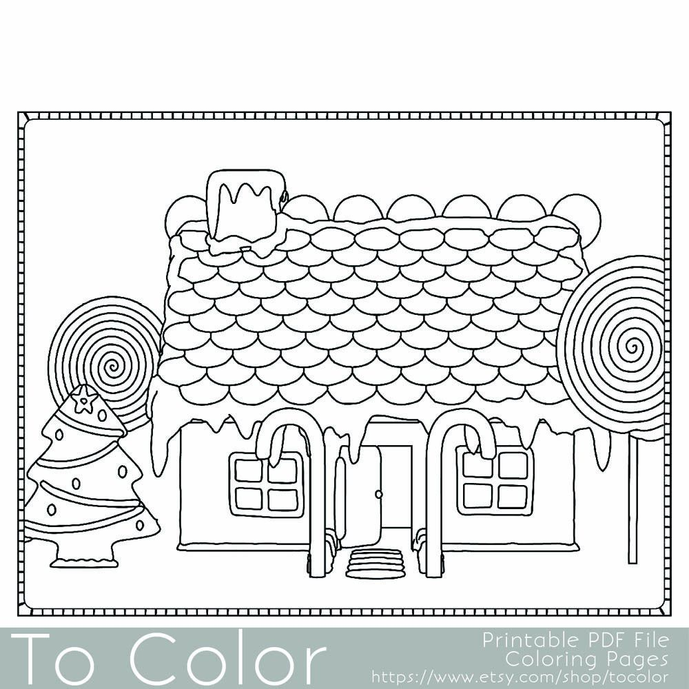 Copy of Holiday Christmas Gingerbread House 1 Coloring Page for ...