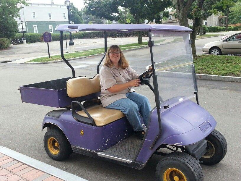 Purple Golf Cart at Elmira College Golf carts, Golf, Cart