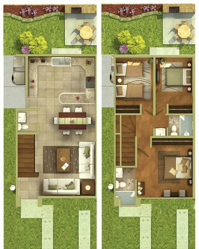 Duplex house dream plans small floor apartment design townhouse designs future home projects also best images in rh pinterest