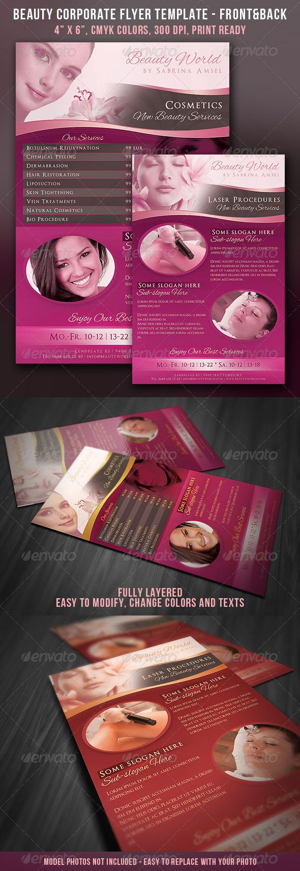 beauty corporate flyer front back cleanses fonts and beauty corporate flyer front back graphicriver item for