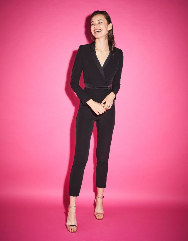 0304f14b01 Bershka United States - Jumpsuit with tuxedo collar
