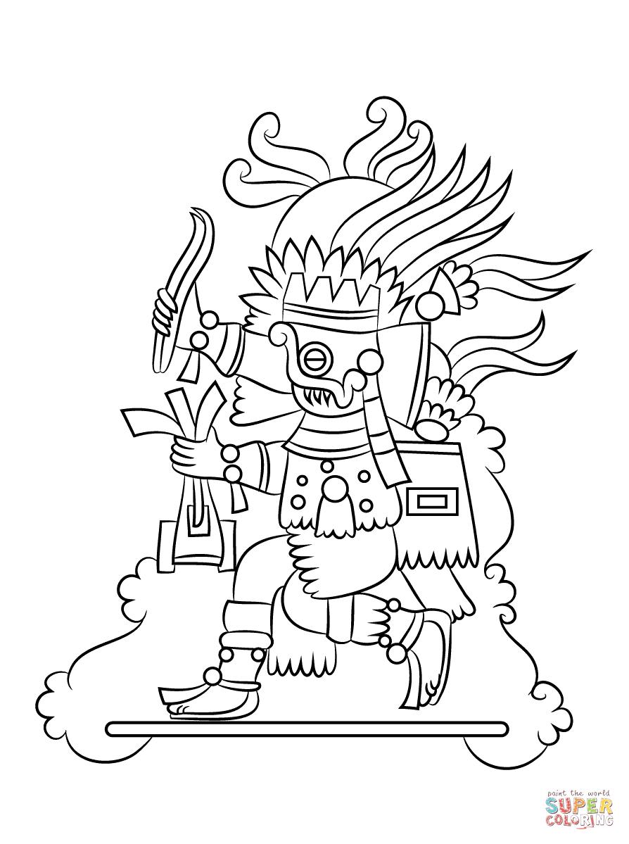 Dios Azteca Tlaloc Super Coloring