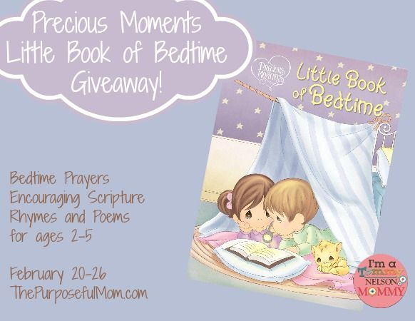 Precious Moments Little Book of Bedtime Review and Giveaway - The Purposeful Mom
