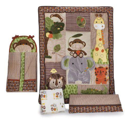 Amazon.com: Kids Line Jungle Walk 4 Piece Crib Bedding Set: Baby
