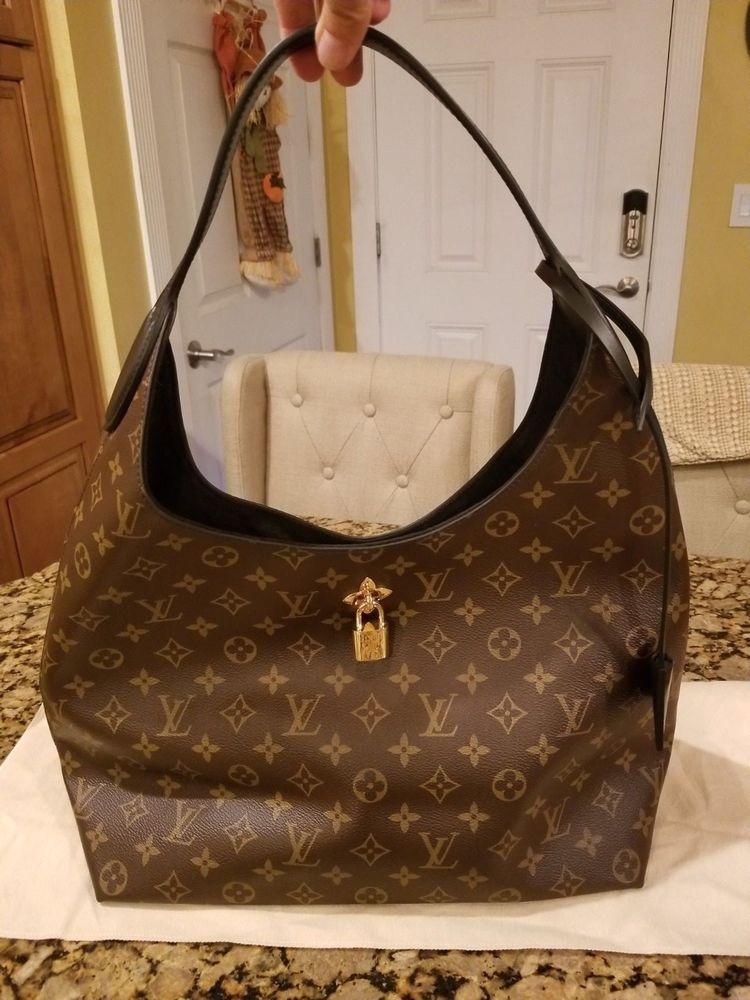 NWT ~ Authentic Louis Vuitton Flower Hobo Shoulder Bag 2018 Monogram W Black 40d06c753a341