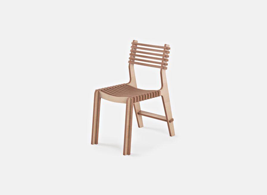 Chaise en bois design confortable et écologique. catalogue
