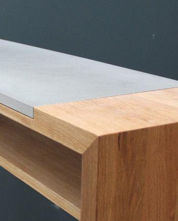 Beton-moebel-stehtisch-vollholz-lg_03 Beton-ideen Pinterest - beton wohnzimmertisch