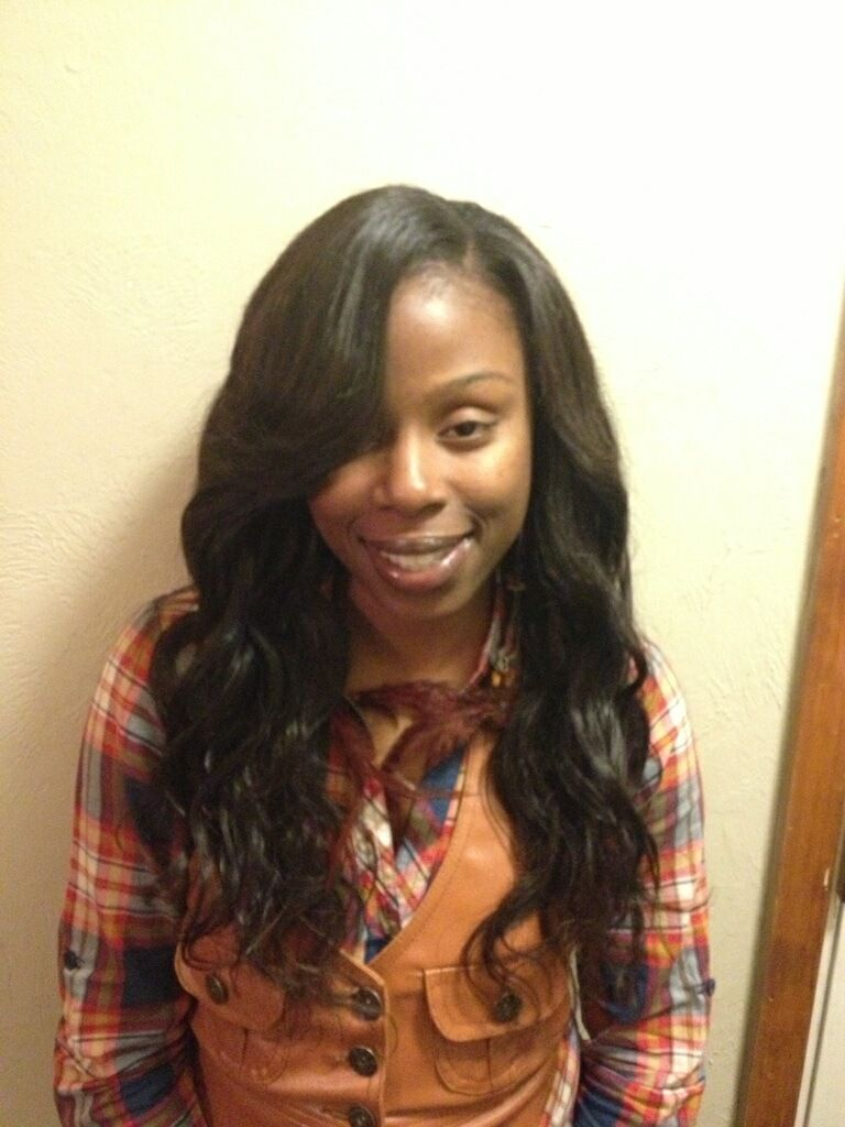 sew+in+weave+with+bangs | sew-in using 3 bundles of brazilian body
