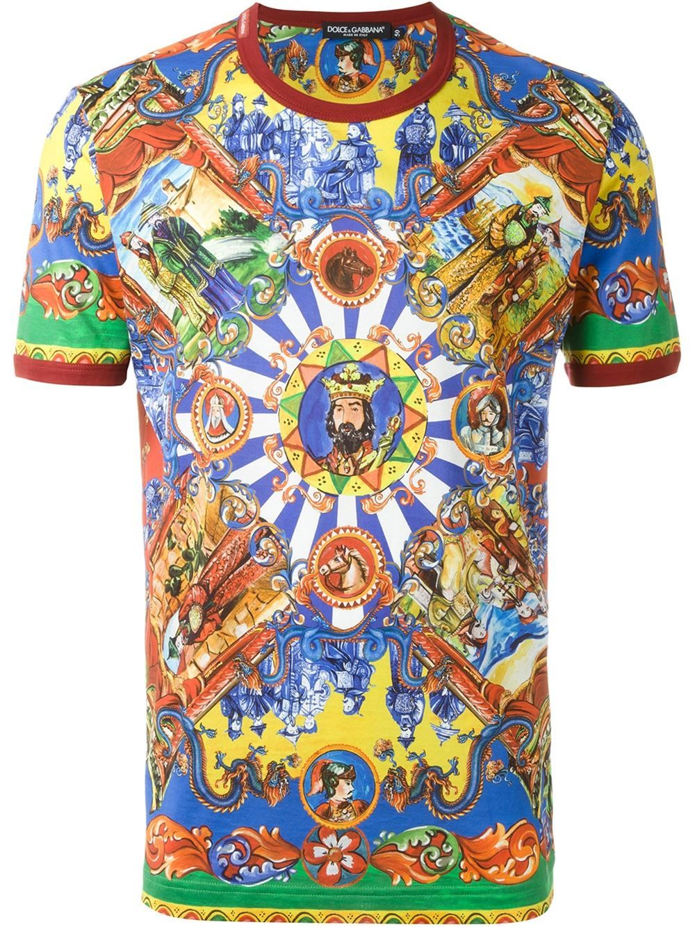 c5302541 Dolce & Gabbana Carretto Siciliano print T-shirt   The Tee Party! in ...