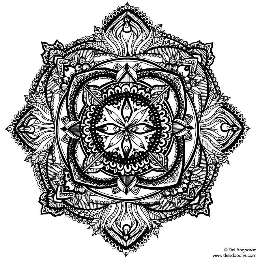 Coloring Page Mandala With Images Rysunki Grafika Szablony