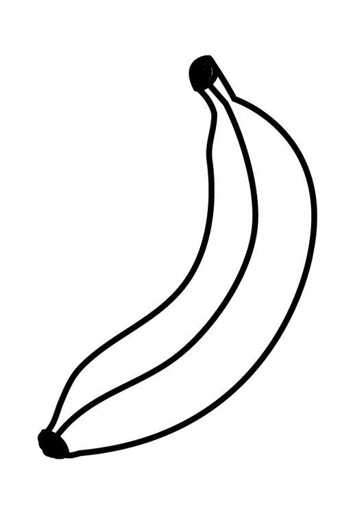 Coloring Page Banana Boyama Sayfalari Meyve Boyama Kitaplari