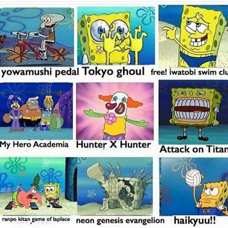 How SpongeBob impacted anime Anime funny, Anime