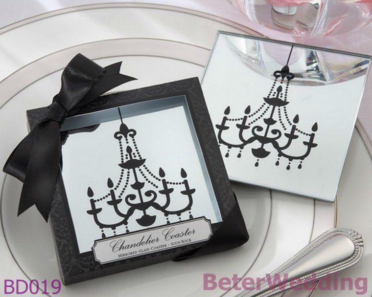Aliexpress Buy 9Set Free Shipping Chandelier Mirrored Wedding Gifts BD019 18pcs Valentine Glass CoastersWedding FavoursParty FavorsPhoto