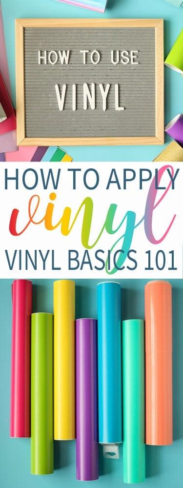 Vinyl Basics 101 - How to Apply Craft Vinyl