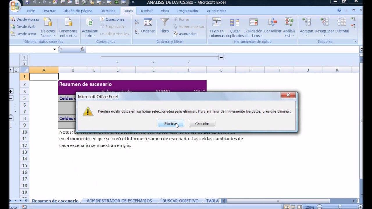 Curso De Excel Avanzado Analisis De Datos Excel Microsoft