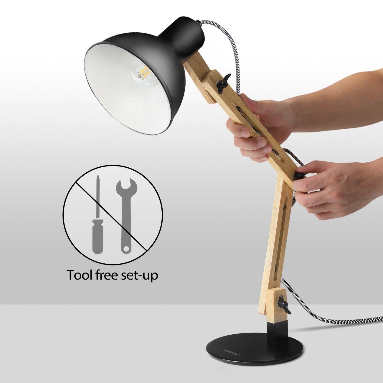 Tomons Adjustable Swing Arm Desk Wood Lamp Scandinavian Drafting Light White Affilink Lamps Lampshades Lampshadeideasap Desk Lamp Led Desk Lamp Study Lamps