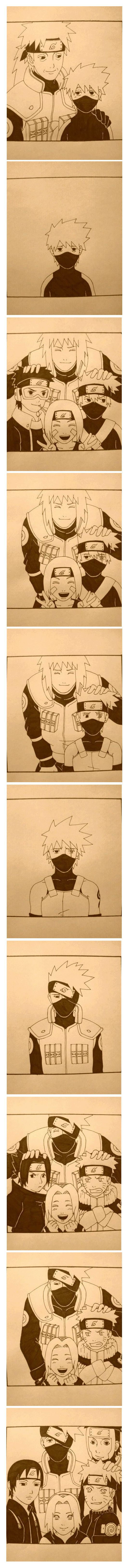 Kakashi Story, I feel so sad for him :( :( :( We are here for you Kakashi <3 <3 T^T: