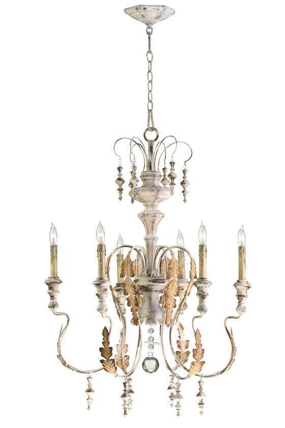 Horchow 6 light chandelier french chateau aidan gray wedding look cyan motivo