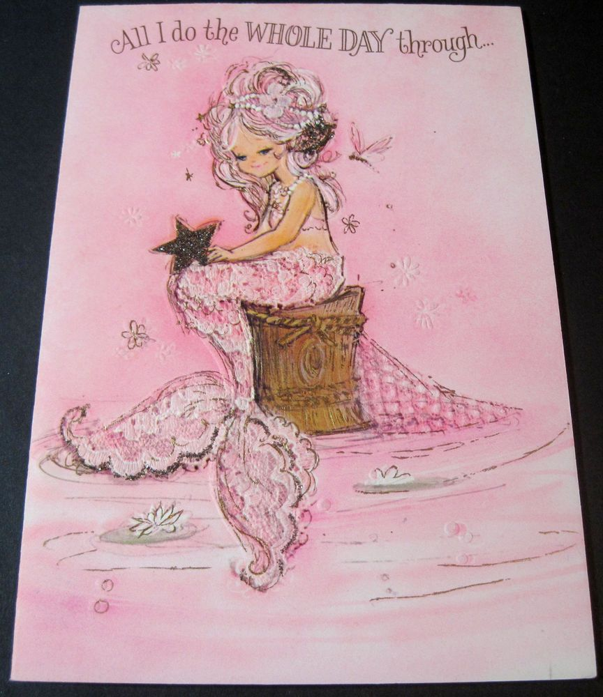 Used vintage greeting card hallmark charmers mermaid w star used vintage greeting card hallmark charmers mermaid w star thinking of you kristyandbryce Image collections