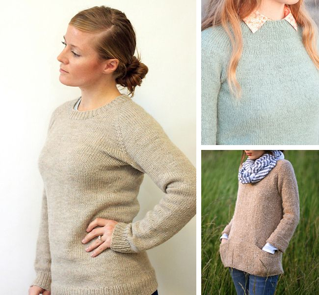 """Top-down sweater knitting patterns for first-timers in """"Pullovers ..."""