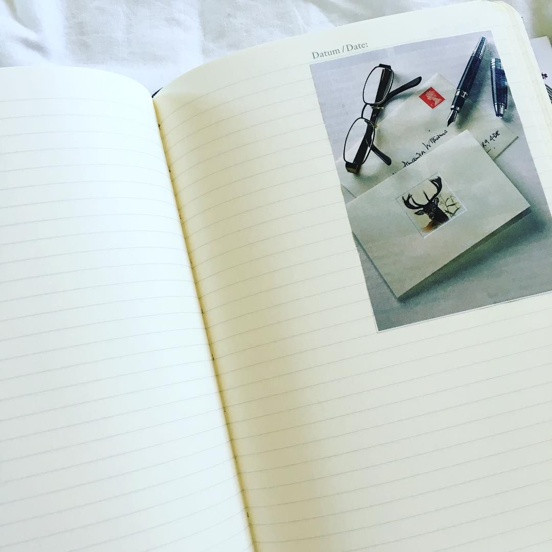 """""""When I crack open a new notebook, I love sticking many inspirational images from magazines into random pages. It's a really pretty surprise throughout the…"""""""