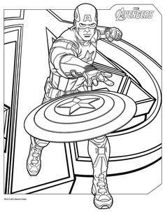 Capitaine America A Colorier Kolorowanki Avengers Coloring Pages