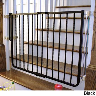 Wrought Iron Gate May Work On Metal Railings For Top Of Stairs