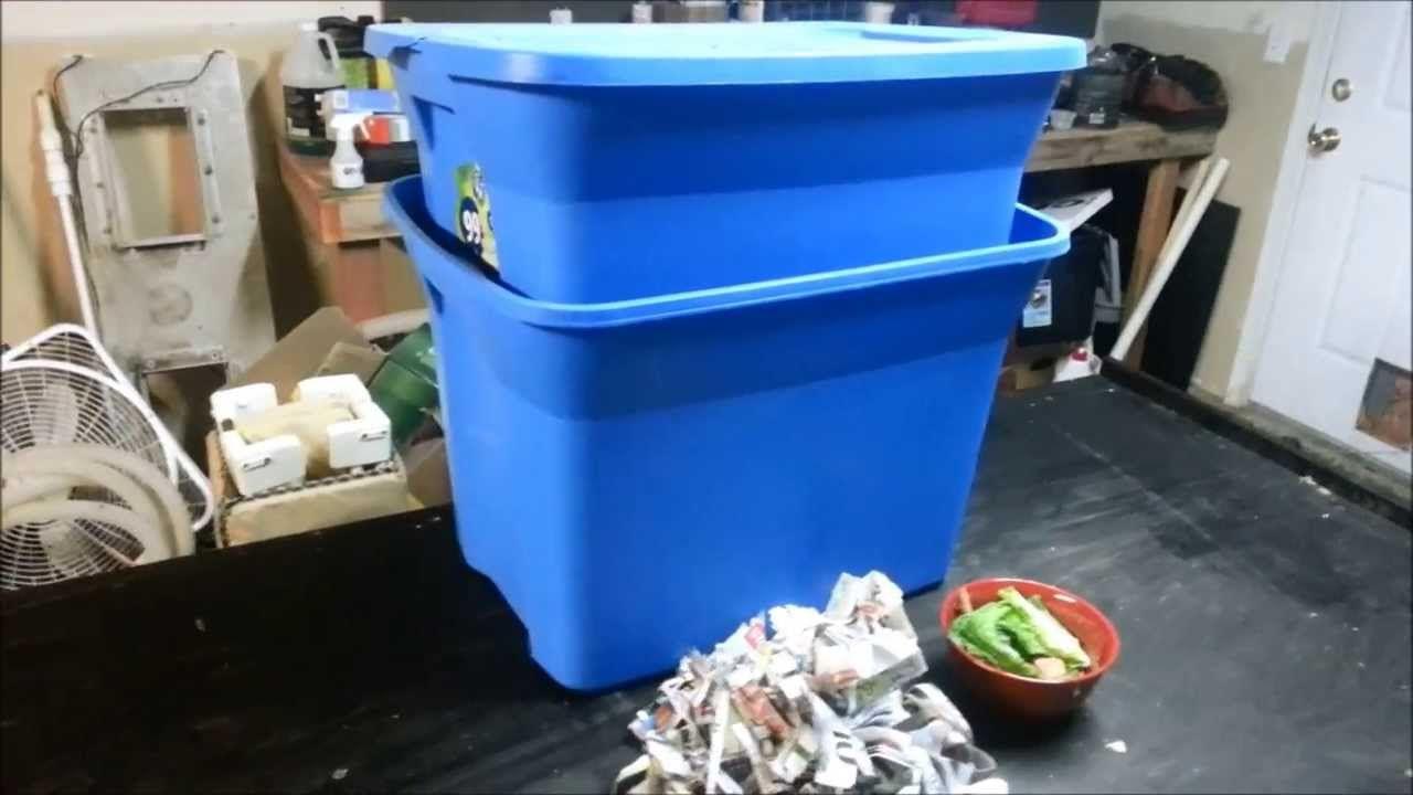 Diy soil making worm binblack gold worm composting