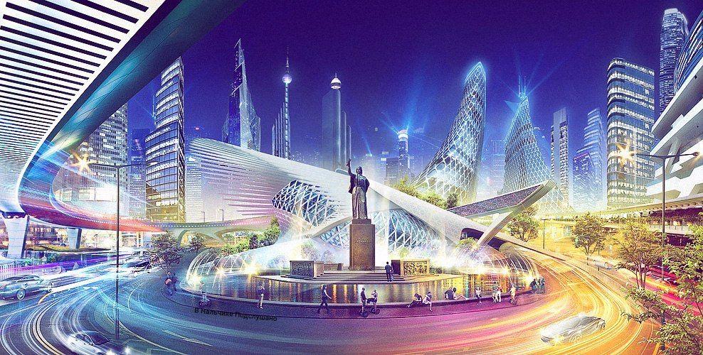 Будущие города картинки
