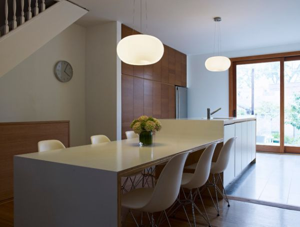 Simple, Modern Kitchen Island And Table With A Delicate Design And Clean  Lines