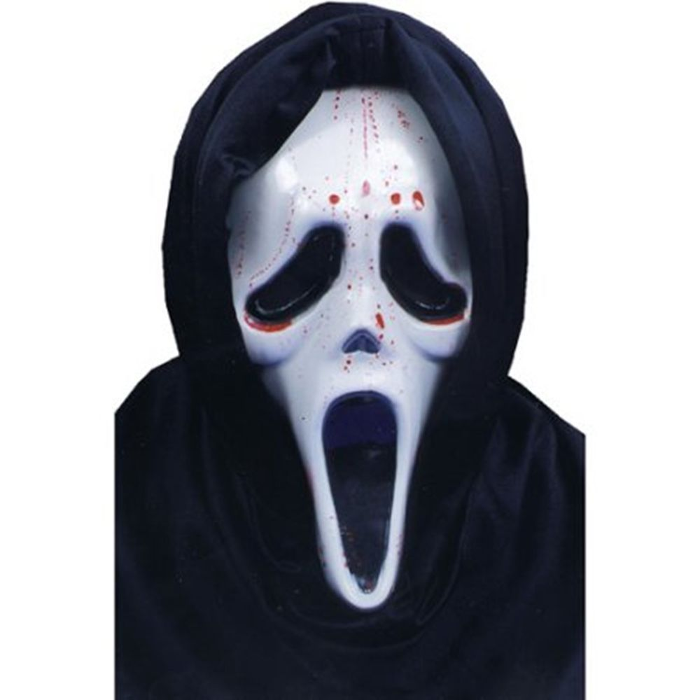 Scream Mask With Blood And Pump Adult Halloween Scary Accessory ...
