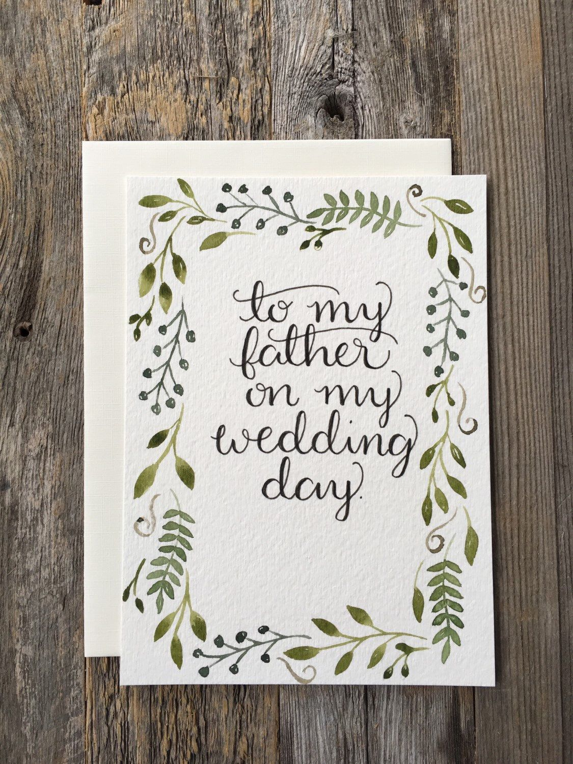 To My Father On My Wedding Day, Father Of The Bride Gift