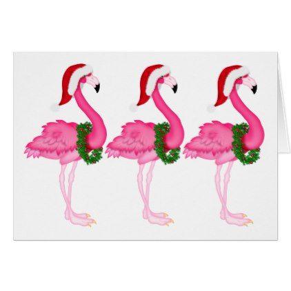 Flamingo Christmas Cards.New Pink Flamingo Christmas Card Zazzle Com Christmas