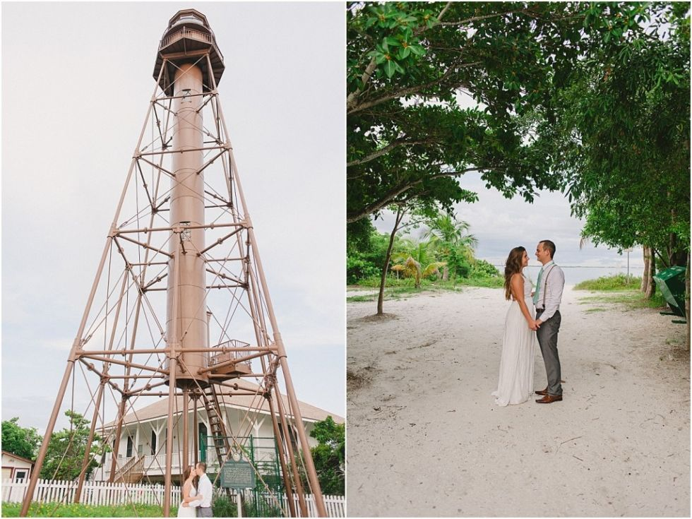 Sanibel Island Lighthouse Wedding Photographer Elopement Ceremony Florida Affordable